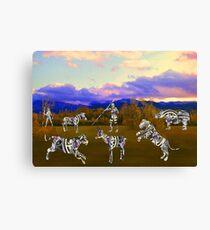 Clockwork Serengeti Canvas Print