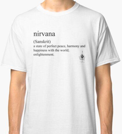 nirvana (Sanskrit) statement tees & accessories Classic T-Shirt