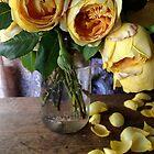 Yellow Roses in Jar by Barbara Wyeth