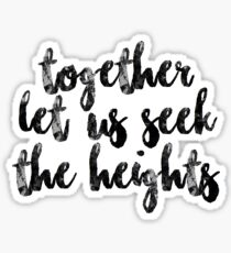 Heights Sticker