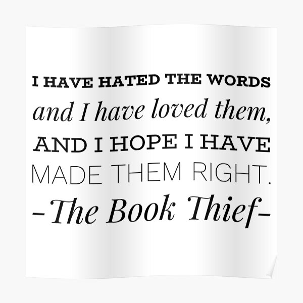 The Book Thief - Quote Poster