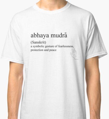 abhaya mudra-(Sanskrit)- statement tees & accessories Classic T-Shirt