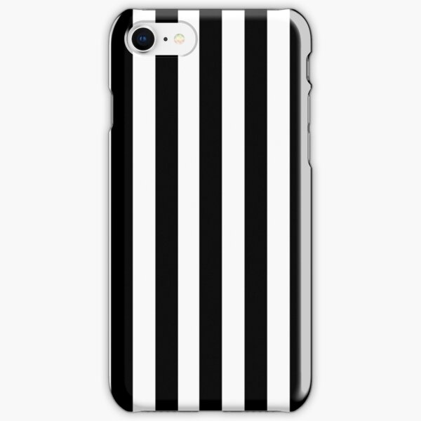 Black White Stripe Bedspread iPhone Snap Case