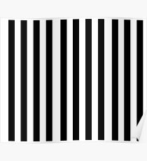 Black White Stripe Bedspread Poster