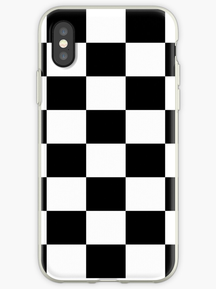 buy online 249db 7a853 'Chequered Flag Checkered Racing Car Winner Bedspread Duvet Phone Case'  iPhone Case by deanworld