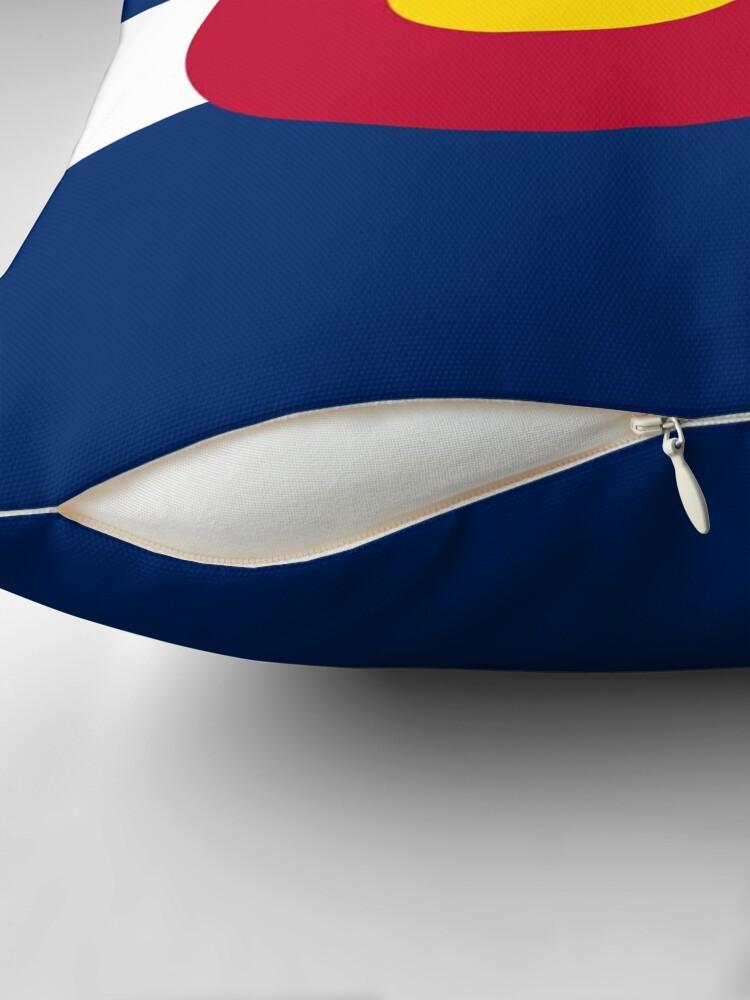 Alternate view of Colorado USA State Flag Bedspread T-Shirt Sticker Throw Pillow