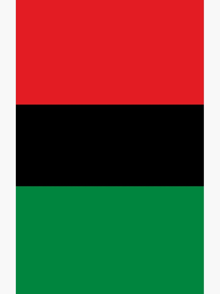 Pan African Flag T-Shirt - UNIA Flag Sticker - Afro American Flag by deanworld