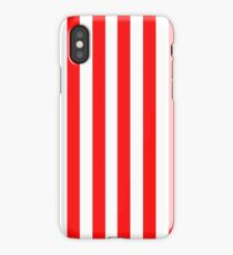 Red and White Striped Slimming Dress iPhone Case/Skin