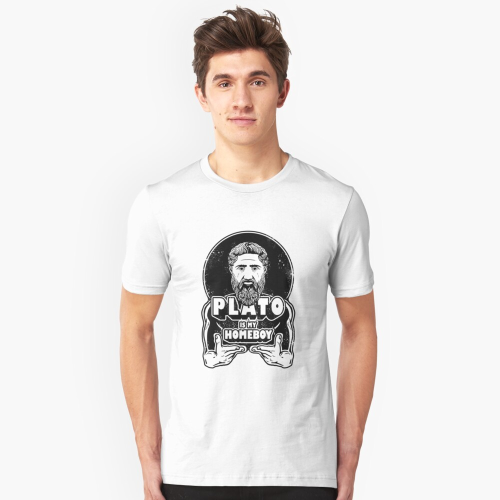 Plato Is My Homeboy Unisex T-Shirt Front