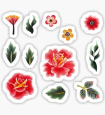 Watercolor floral collection Sticker