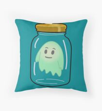 Ghost In A Jar Throw Pillow