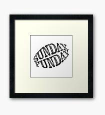Sunday Funday Football Fan Framed Print
