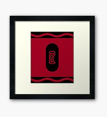 Red Crayon Halloween Group Costume Gift Framed Print