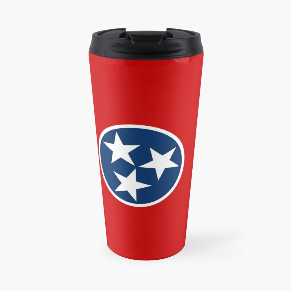 Tennessee State Flag - USA Nashville Memphis - Bedspread T-Shirt Sticker |  Travel Mug