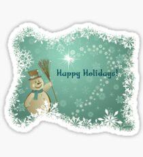 Happy Holidays Snowman Sticker