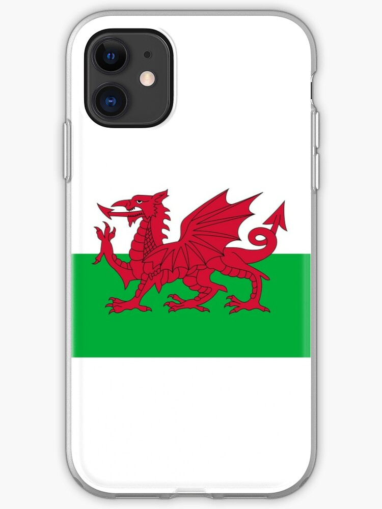Old and Worn Distressed Vintage Flag of Wales iPhone 11 case