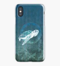 Green Sea Turtle Wreath iPhone Case/Skin