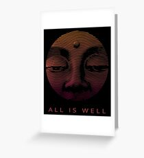 All Is Well - Trippy Inspirational Open Third Eye Art Greeting Card