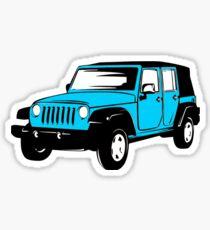 Neon Blue Nantucket Jeep Wrangler Sticker Sticker