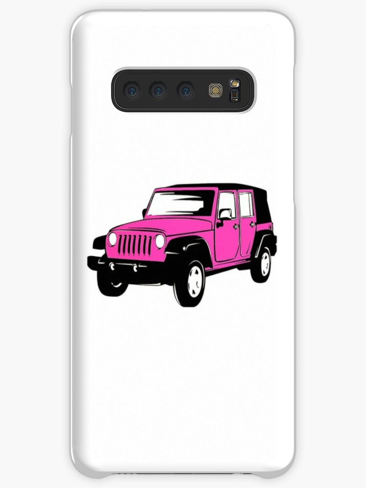 Pink Jeep Wrangler >> Neon Pink Jeep Wrangler Sticker Case Skin For Samsung Galaxy By Claire Andrews