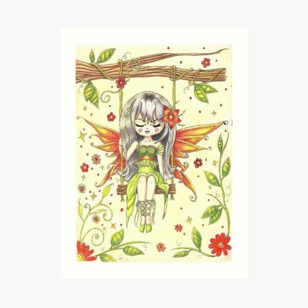 Fairy Swing by Tina Art Print