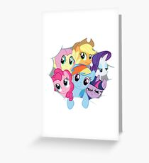 Mane Six Break Out! Greeting Card