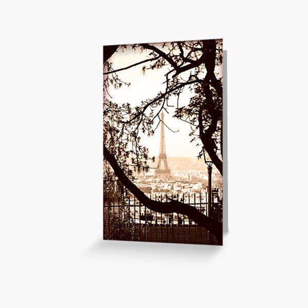 Paris Skyline from Sacre Coeur Greeting Card