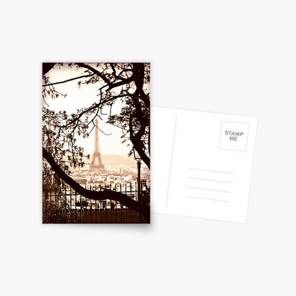 Paris Skyline from Sacre Coeur Postcard