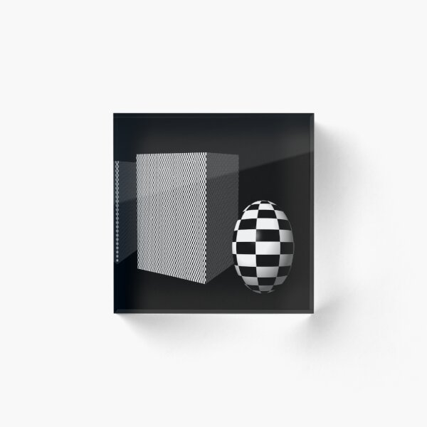 Boxes and Spheres Acrylic Block
