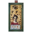 """The Eyes Have It"" - collage / assemblage / shadow box art by LindaAppleArt"
