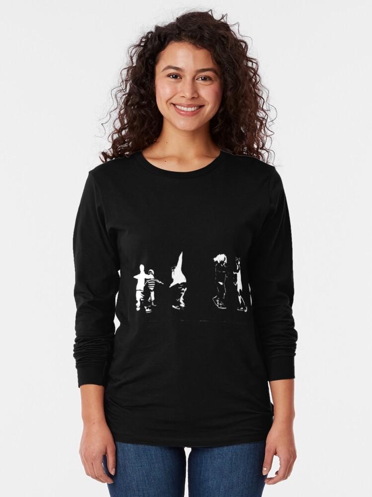 Alternate view of Children Playing On Dark Long Sleeve T-Shirt