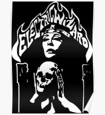 Band Electric Wizard Logo Skull White Poster