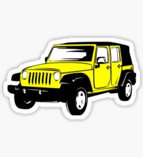 Neon Yellow Jeep Wrangler Sticker Sticker