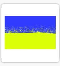 National Flag of Ukraine. Ukrainian Grunge Flag. Symbol of Ukraine Sticker