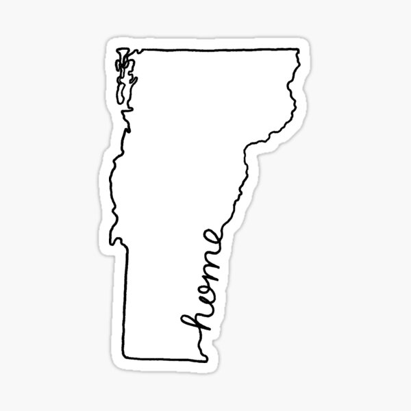 Vermont Home State Outline Sticker