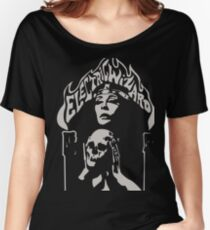 Band Electric Wizard Logo Skull Pale Slate Grey Women's Relaxed Fit T-Shirt