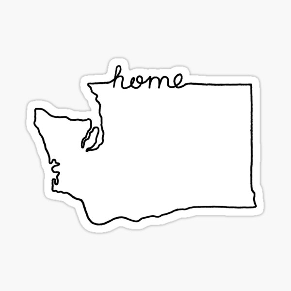 Washington Home State Outline Sticker