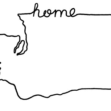 Washington Home State Outline by jamiemaher15