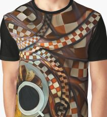 Midnight Never Ends, a Diner Shop Fractal Tribute to Coffee Conversations Graphic T-Shirt