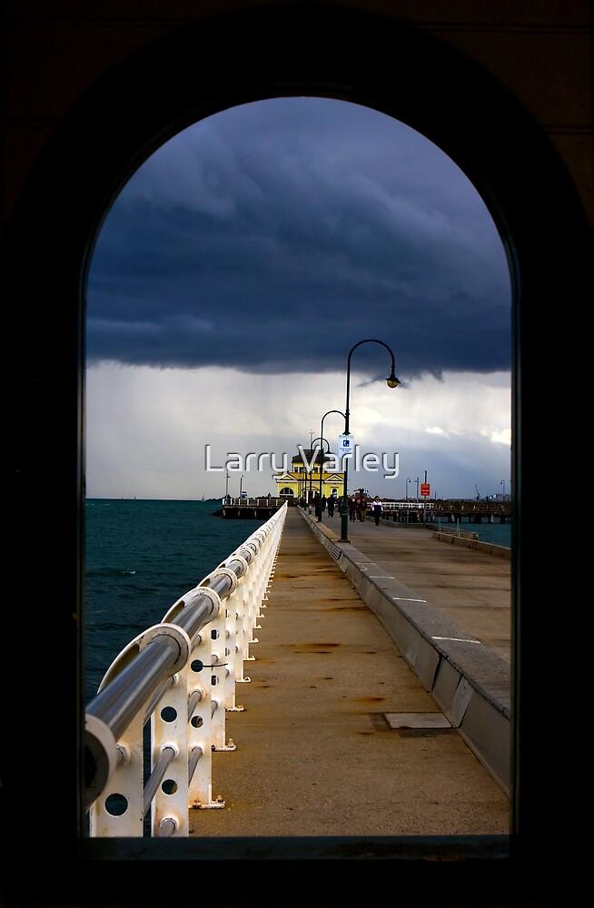 St Kilda beach Melbourne by Larry Varley