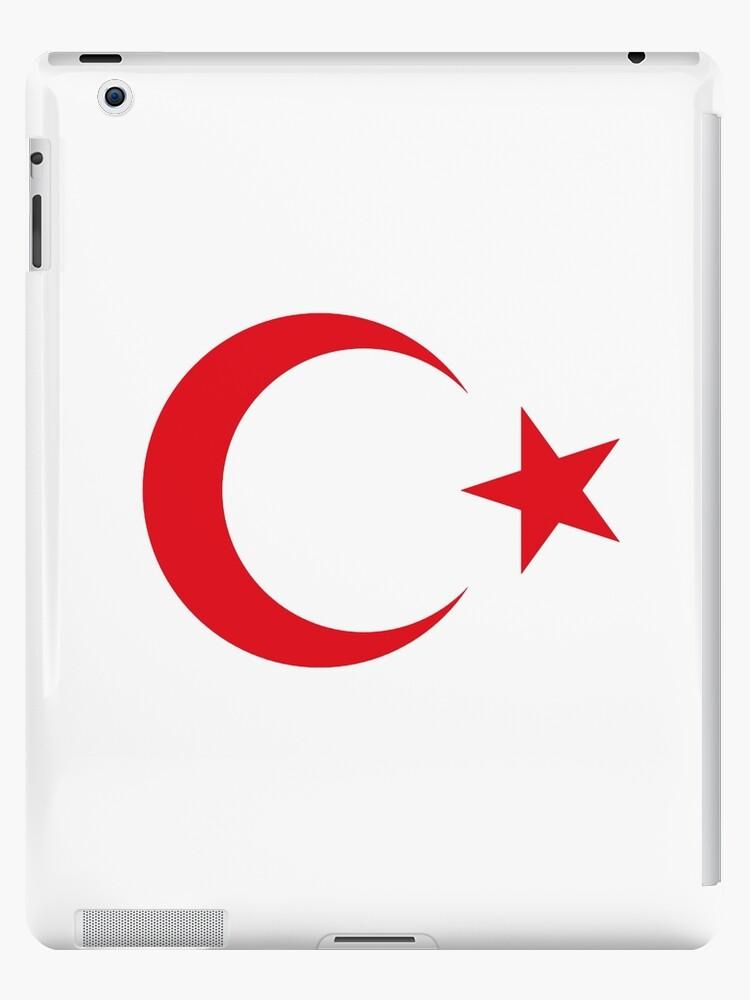 Turkish crescent moon star flag national turkey symbols sticker t shirt duvet by deanworld