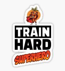 The Angry Carrot / Foodietoon / Train Hard Sticker
