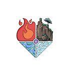 Earth, Fire, Wind, Water by Skulldixon