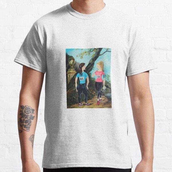 Running Girls Stop to Rest Classic T-Shirt