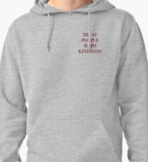 Treat People With Kindness (Red/Grey) Pullover Hoodie