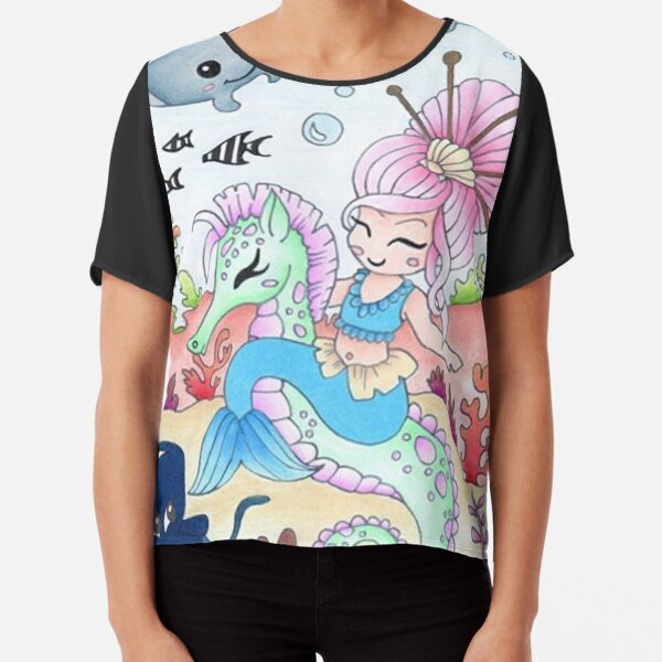 Sea Horse Ride by Honor Marie Chiffon Top