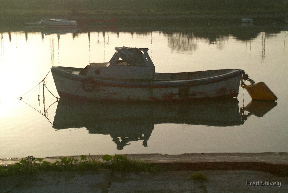 Sunrise boat, Andalucia 2 by Fred Shively