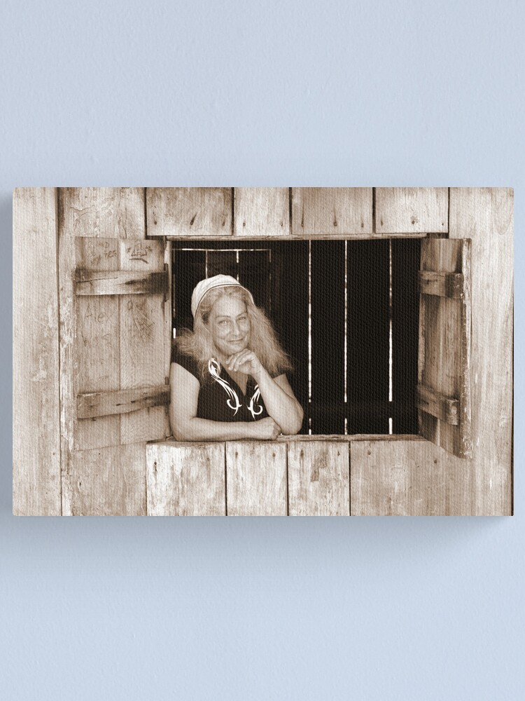 Alternate view of Angie at Mulligans Hut Canvas Print