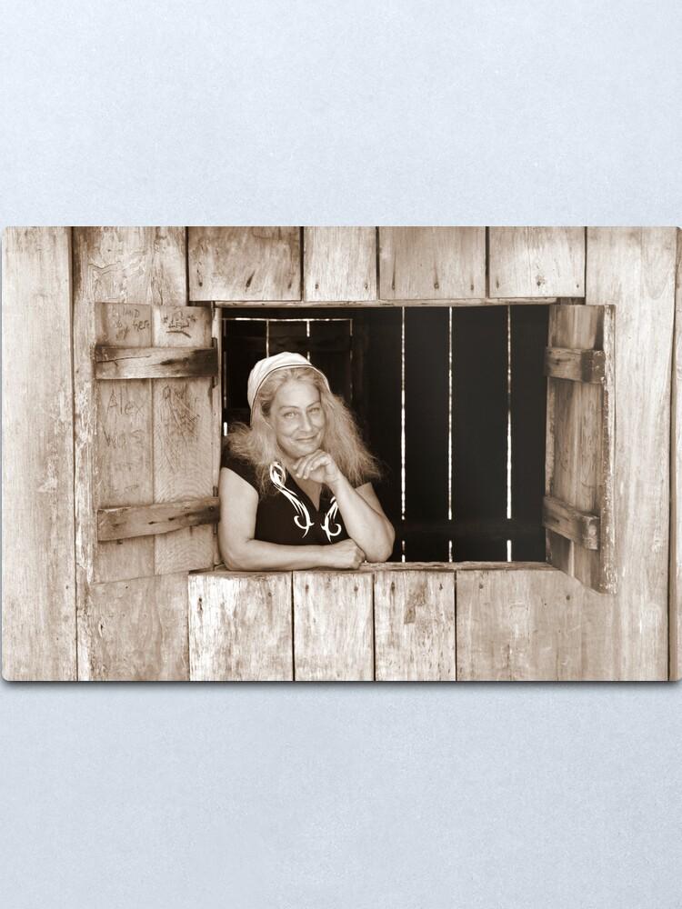Alternate view of Angie at Mulligans Hut Metal Print