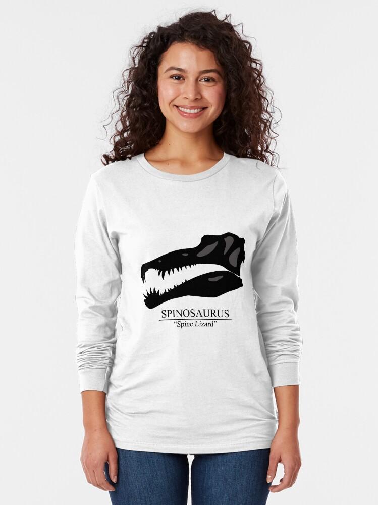 Alternate view of Spinosaurus Skull Long Sleeve T-Shirt